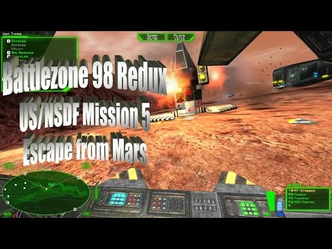 Battlezone 98 Redux | US/NSDF Mission 5 | Escape from Mars