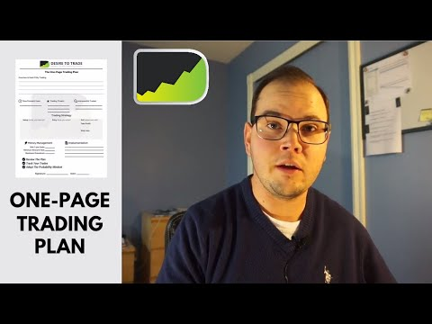 One-Page Trading Plan Tutorial (free template!) | Forex Trading