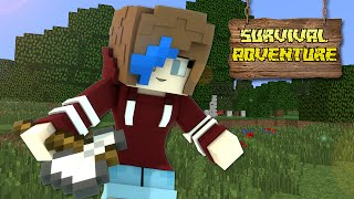 MINECRAFT SURVIVAL ADVENTURE SERIES | BUILD A HOUSE | RADIOJH GAMES