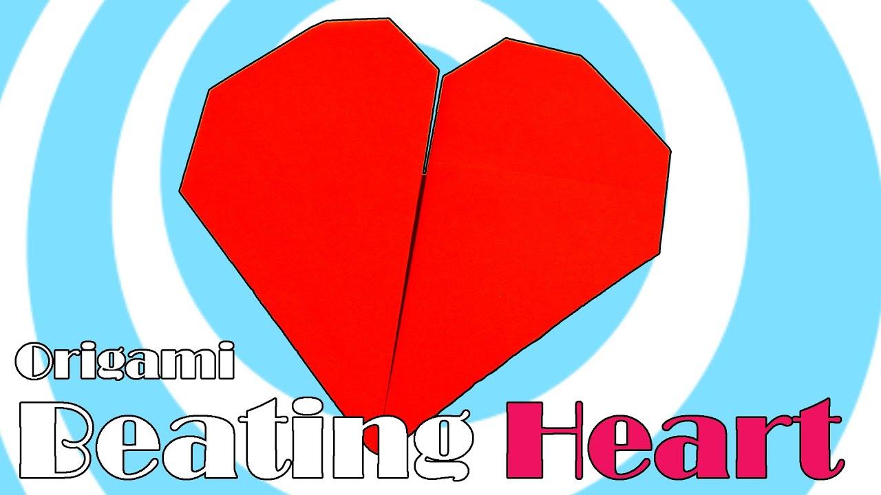 Diy Paper Origami Beating Heart Video Tutorial Youtube
