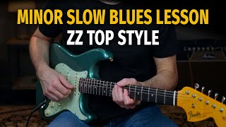 ZZ Top Style Minor Blues Solo Lesson in A