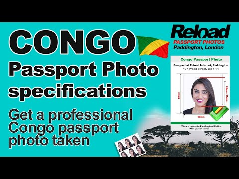Get your Congo Passport Photo and Visa Photo snapped in Paddington, London