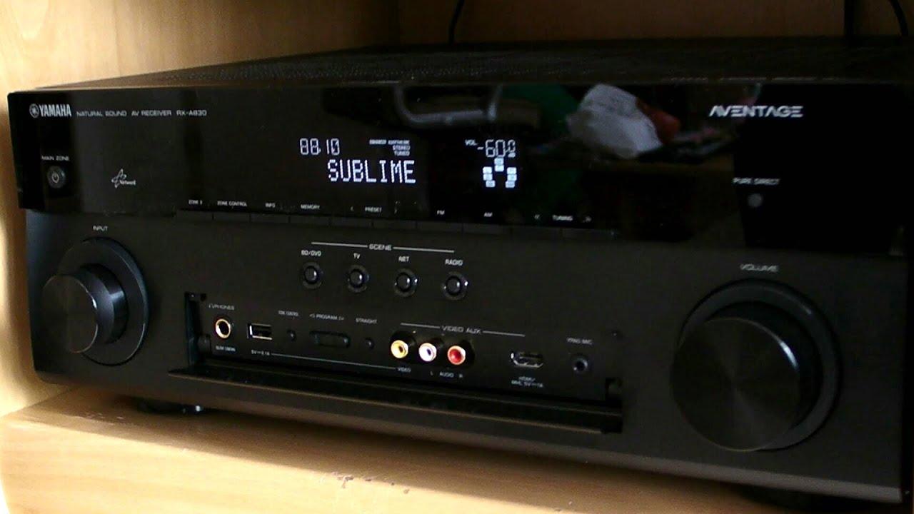 Yamaha rx-A830 on B&W 600i
