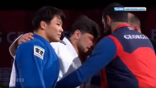 Respect moment in Judo - Mukai (Japan) vs Beka Gviniashvili (Georgia)