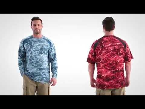 Guide Gear Performance Fishing Shirt, Mossy Oak Elements