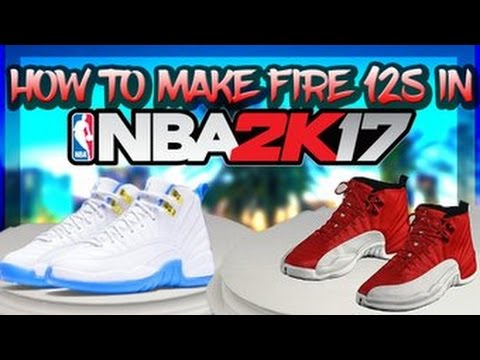 HOW TO MAKE NICE CUSTOM JORDAN 12'S IN NBA 2K17! (SHOE TUTORIAL)