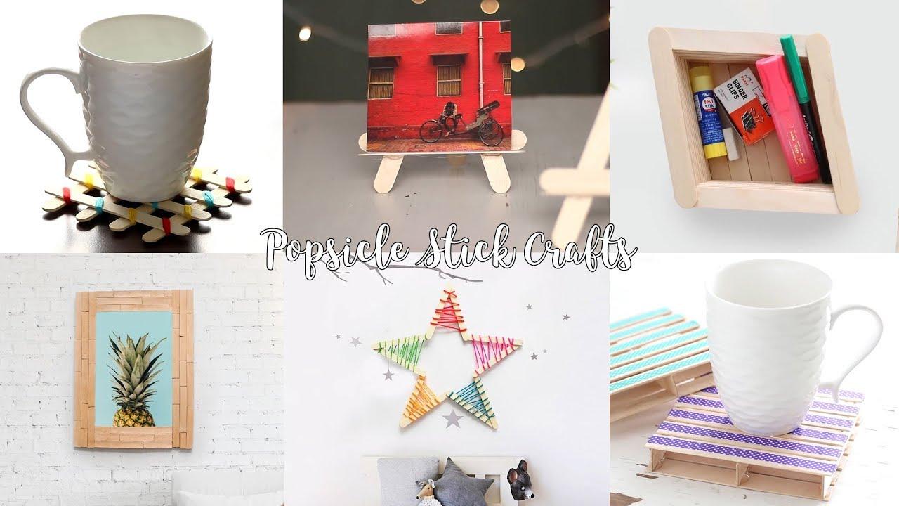 6 DIY Popsicle Stick Craft Compilation | Craft Ideas | Home Decor ...