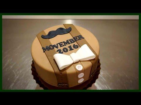 Movember Motivtorten Tutorial Einfache Anzug Torte Aus Fondant
