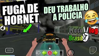 Fuga de Hornet Deu trabalho a polícia ✔ moto vlog Brasil #vidaReal 2p