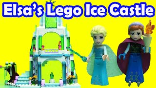 Frozen Elsa's Sparkling Ice Castle Lego 41062 Step By Step Build