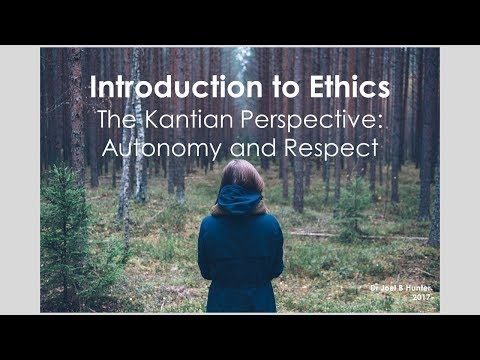 Kant's Moral Theory: Autonomy and Respect