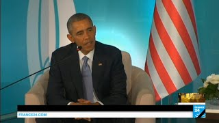"""Paris Attacks: Obama condems """"attack on civilization"""", vows to """"redouble efforts"""" against IS group"""