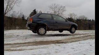 Car jump and fail