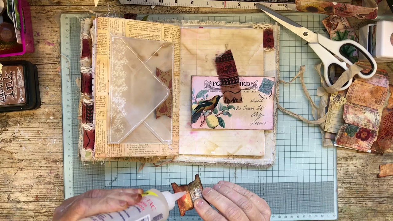 junk journaling 4 Individual Napkins for decoupage Gypsy crafts