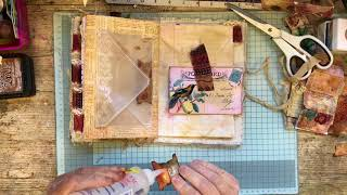 Filling and decorating a blank junk journal 4