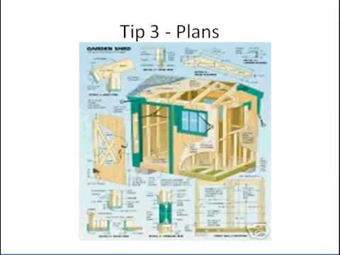 Build a shed using metal storage shed plans 3 tips youtube for Steel shed plans free