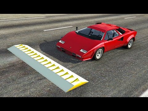 THE SPIKE STRIP CHALLENGE! SPIKE STRIP CRASHES AND TAKE DOWNS! - BeamNG.drive-