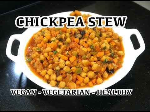 Chickpea Stew - Vegan Recipes - Vegan Chili - Chickpea Chilli - Easy Bean Stew - Vegetarian Stew