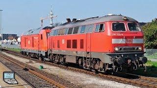 Westerland (Sylt) mit SyltShuttlePlus 628, DB Autozüge (BR 218, 245), NOB +NAH.SH 245, IC +2x BR 218