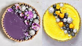 Four Easy Healthy Vegan Desserts ☆ Blueberry   Lemon   Strawberry   Chocolate Tarts ☆