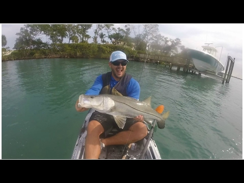 Kayak Snook Fishing Day in Stuart Florida