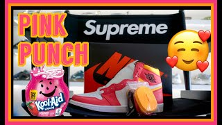 """EARLY LOOK: JORDAN 1 """" LIGHT FUSION RED """" A.K.A.""""PINK PUNCH"""" REVIEW 