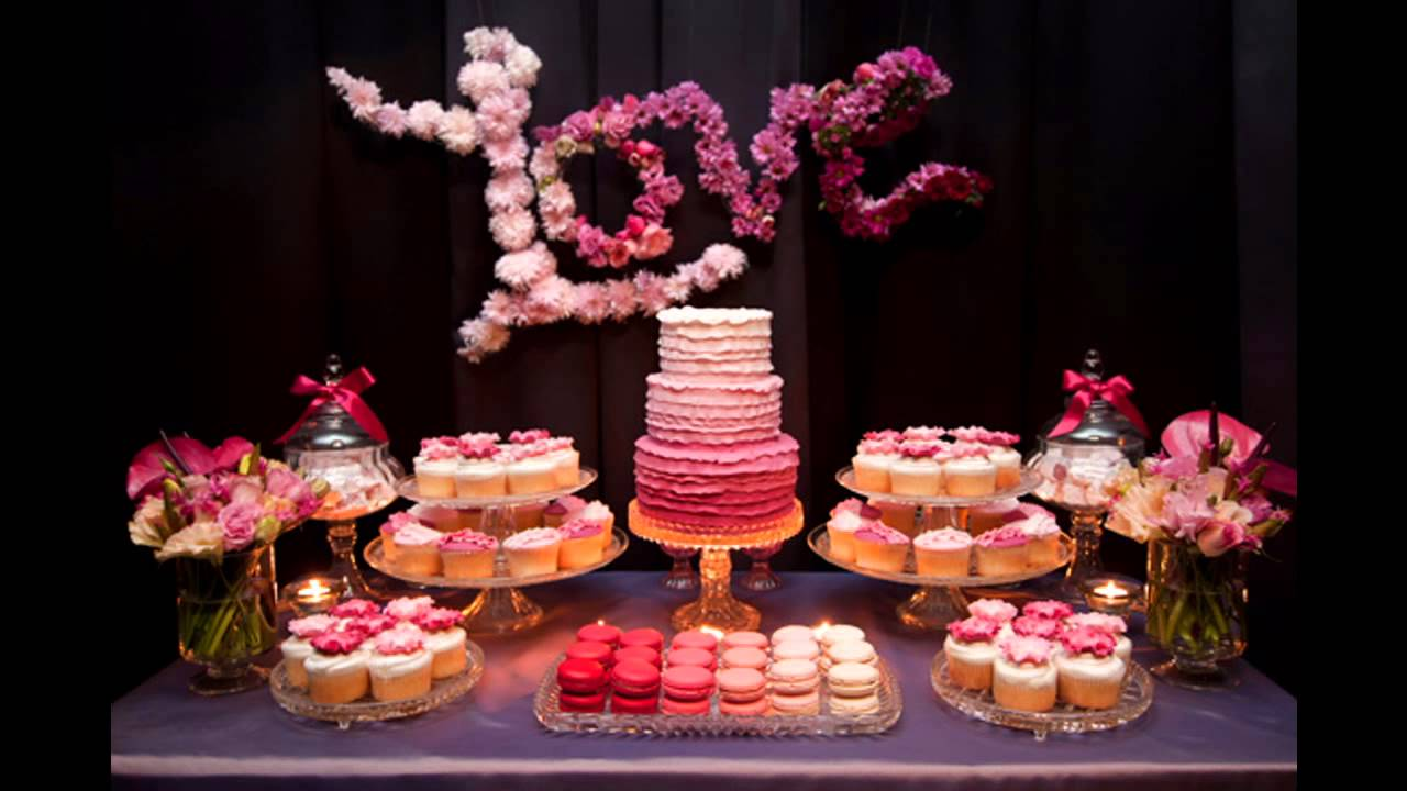 Engagement party themes decorations at home ideas - YouTube