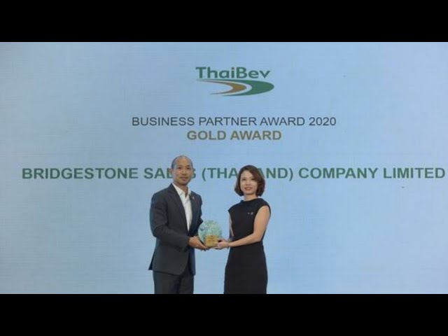 Bridgestone Receives Gold Award of ThaiBEV Business Partner Award 2020 for the 2nd Consecutive Year