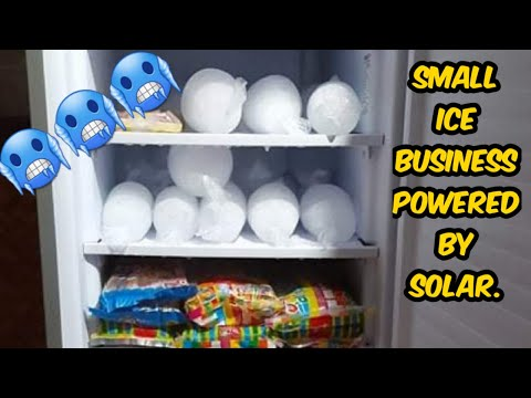 Small Ice business using the free energy from the sun. (Solar Power)