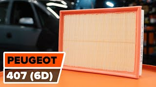 Como substituir a filtro de ar do motor no PEUGEOT 407 [Tutorial]