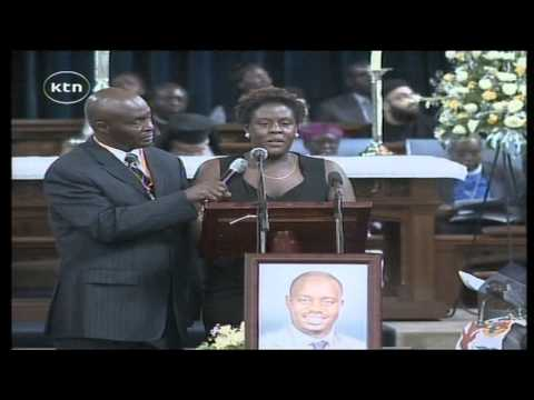 Fidel Odinga's sister eulogising him at funeral service