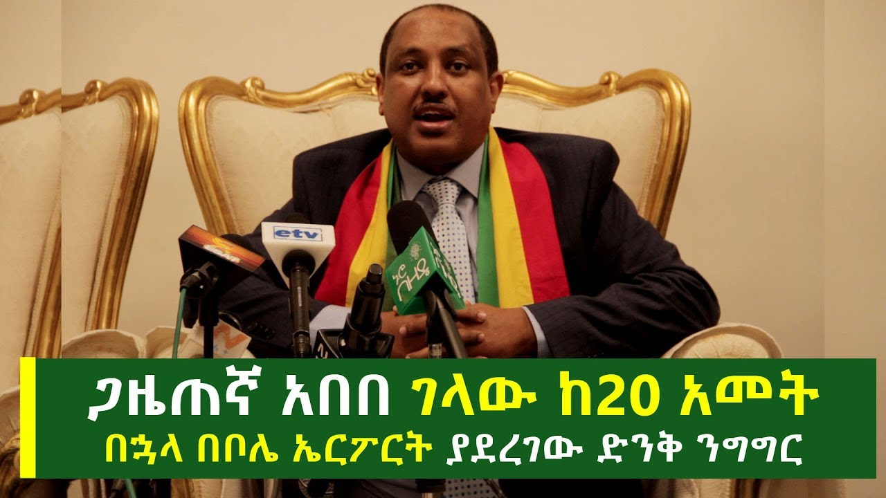 Journalist Abebe Gelaw's Speech At Bole Airport