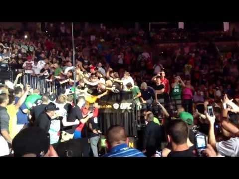 Conor McGregor Walkout UFC Fight Night 26 Boston
