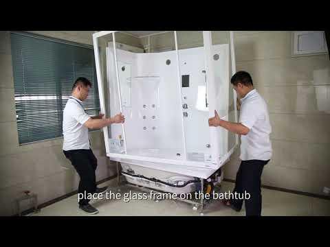 Aquapeutics Aspen  Steam Shower whirlpool tub combo  installation video