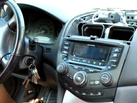 How to remove stereo  cd player from Honda Accord 2003