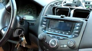 How to remove stereo  / cd player from Honda Accord 2003, 2004 , 2005, 2006 and 2007