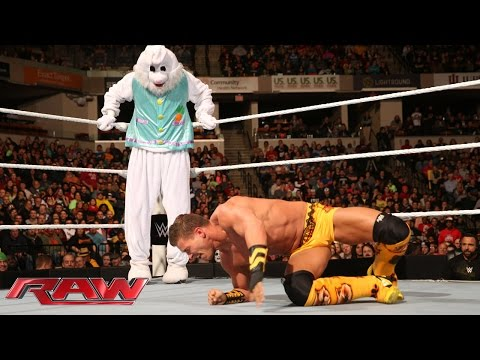 Adam Rose & The Bunny vs. Tyson & Natalya - Raw, November  24, 2014