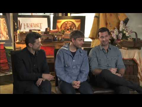 Hobbit Interview with Martin Freeman, Richard Armitage & Andy Serkis