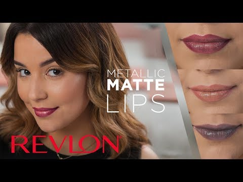 Metallic Lipstick in Earthy, Nude, and Silver with MakeupbyAmarie | Revlon