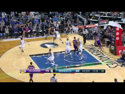 Los Angeles Lakers vs Minnesota Timberwolves | November 13, 2016 | NBA 2016-17 Season