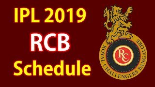 In This Video you Know RCB Team first 5 matches schedule in IPL 201...