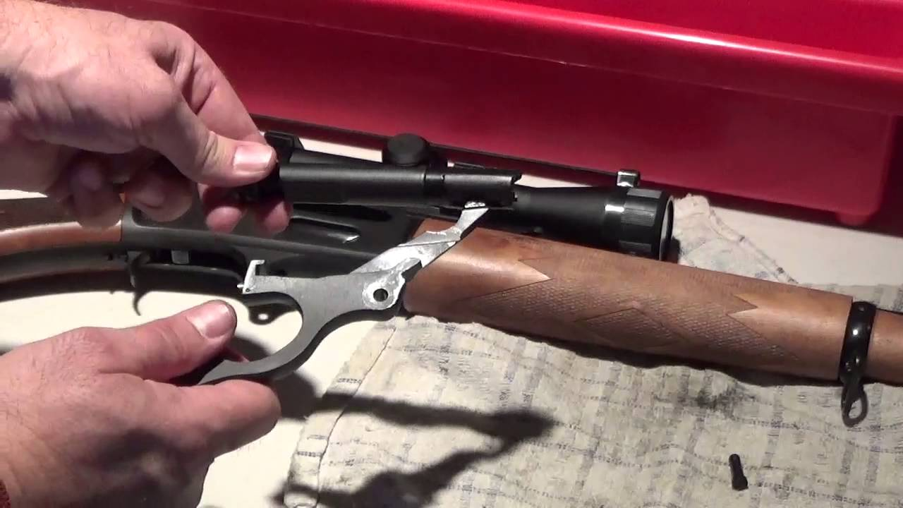 Removing The Bolt On A Marlin Lever Action Rifle
