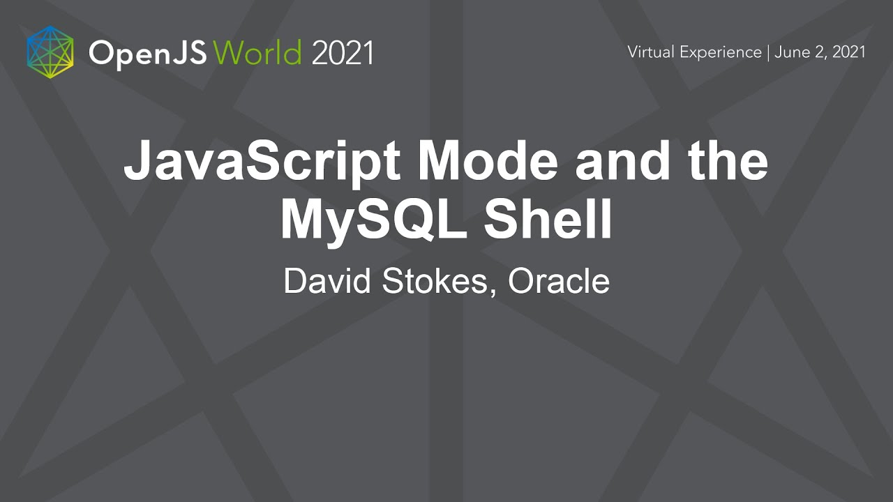 JavaScript Mode and the MySQL Shell