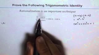 Trigonometric Identity Rationalize Cos
