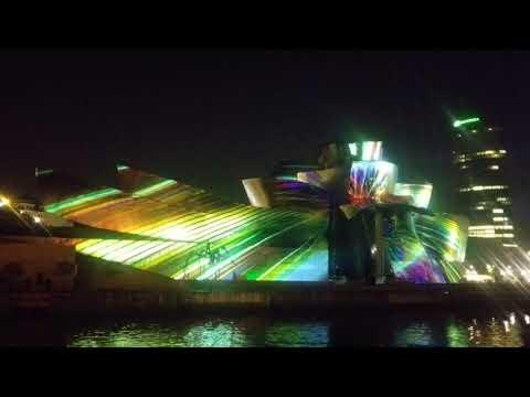 Guggenheim Bilbao Light Show Finale - Must See!