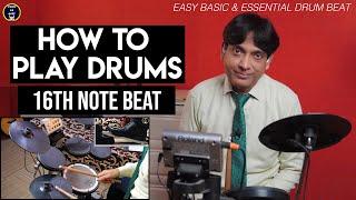 How to Play Drums - 16th Note Beat   Prabhu Ka Dhanyavad   For Beginners in Hindi   Yeshu Ke Geet