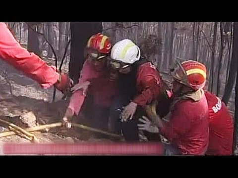 Firefighter killed as Portugal wrestles with forest fires