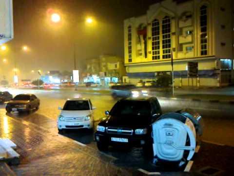 rain at fujairah