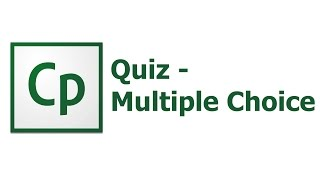 Adobe Captivate 8 - Quiz - Multiple Choice Question