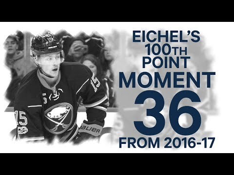 No 36/100: Jack Eichel joins Century Club with 100th career NHL point